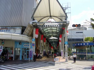 ①商店街入口