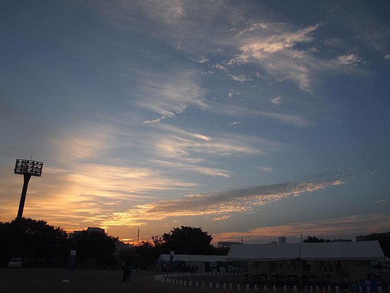 千葉の夜明けです