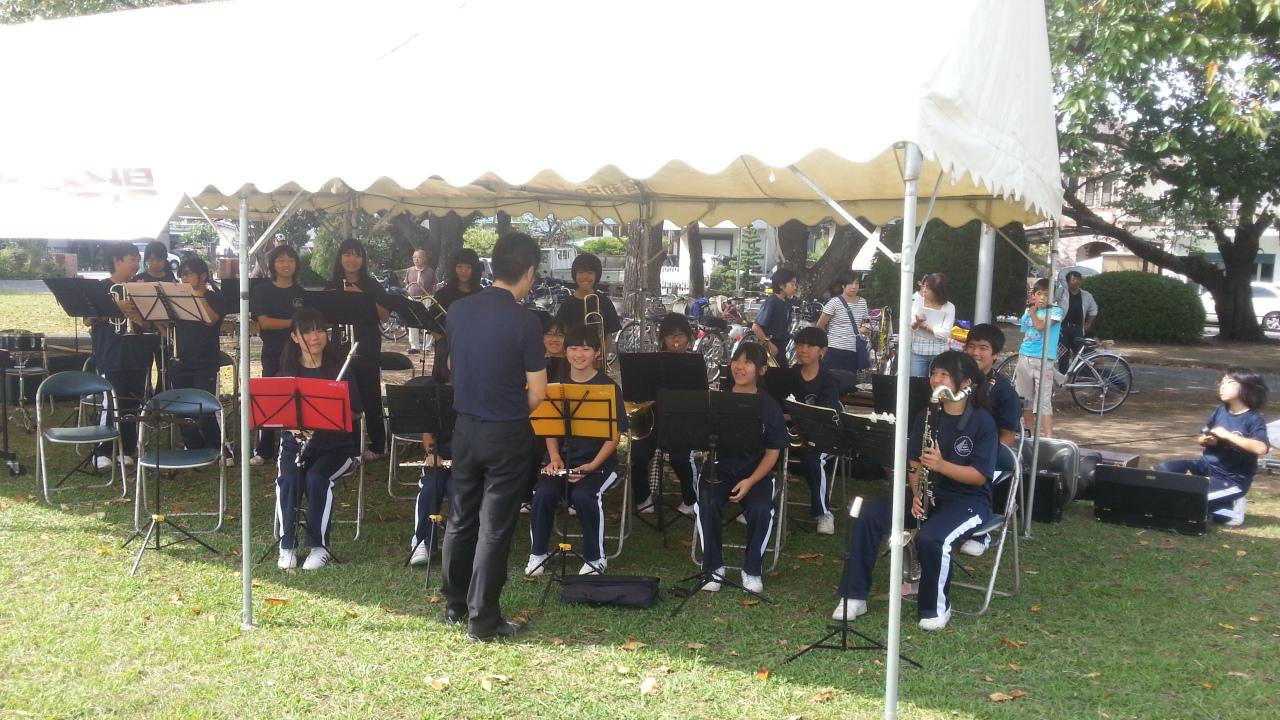 地元中学生の吹奏楽部